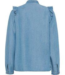 blouse van tencel met volant