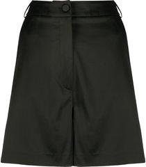 blumarine high-rise tailored shorts - black