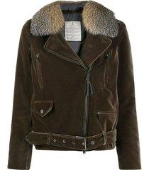 buckled zip-up jacket