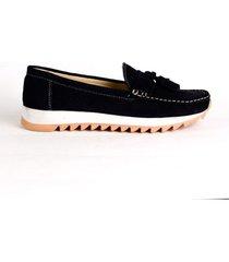 zapato casual para mujer hs4133 azul