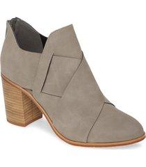 women's bc footwear azalea vegan crisscross bootie, size 6.5 m - grey