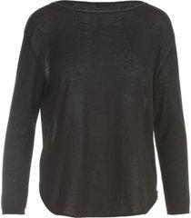 aspesi rounded boat neck 3/4s sweater