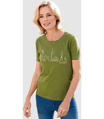 shirt dress in groen