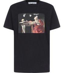 off-white caravaggio cotton t-shirt