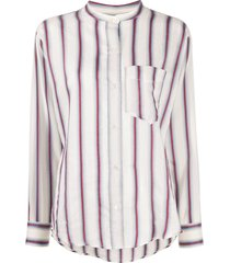 isabel marant étoile satchell striped shirt - neutrals