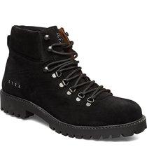 chris boots snörade stövlar svart svea