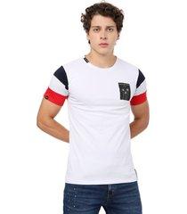 camiseta  combinada en mangas blanco manpotsherd francia