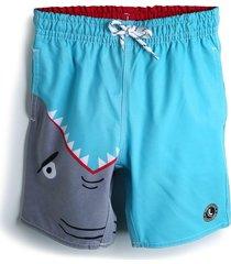 short lupo menino tubarão azul