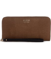 guess lyndi large zip around wallet