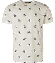 no excess t-shirt crewneck allover printed offwhite
