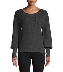 bishop-sleeve cotton sweater