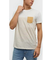 solid hal stripe ss t-shirt t-shirts & linnen white