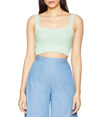 bcbgeneration cropped knit sweater top