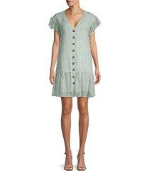 ellias button-front dress
