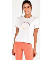 t-shirt alto giro radiosa love is off white 2112733 branco