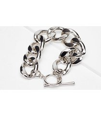 womens in chain sight chunky bracelet - silver