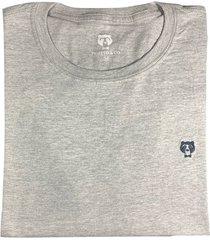 camiseta cuello redondo hombre - color gris con azul