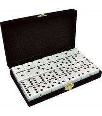 buykom domino estuche de lujo de terciopelo negro 28 piezas