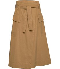 sukari skirt 11531 knälång kjol beige samsøe samsøe