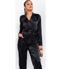 akira talk your talk satin jumpsuit