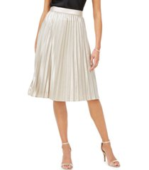 adrianna papell metallic pleated skirt