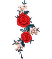 diy applique in ricamo di rosa da cucito e stirare per jeans vestito