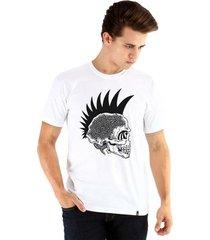 camiseta ouroboros manga curta caveira punk masculina