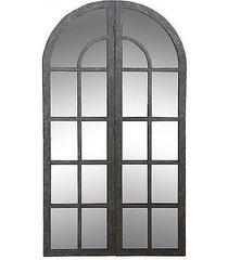 lustro okno metal dark grey