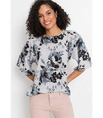 oversized blouse met print