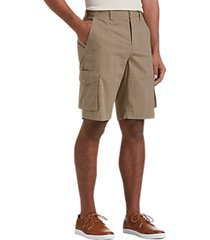 joseph abboud tan plaid modern fit cargo shorts