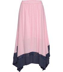 nora skirt knälång kjol rosa just female
