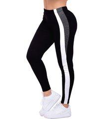 legging para mujer multicolor 2 gris jaspe/blanco mp