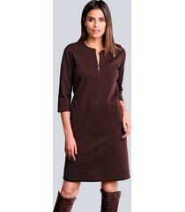 jersey jurk alba moda bordeaux