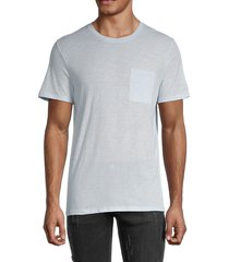 zadig & voltaire men's heathered cotton pocket tee - sky blue - size xs