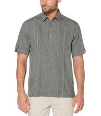 cubavera men's big & tall pintuck embroidered chambray shirt