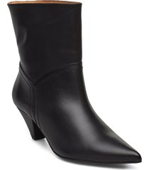 selena leather black shoes boots ankle boots ankle boots with heel svart henry kole