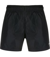 off-white logo print swim shorts - black