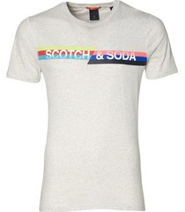 scotch & soda t-shirt - slim fit - grijs