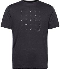 agile graphic tee m t-shirts short-sleeved svart salomon