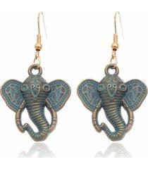 orecchini lunghi dell'elefante dell'elemento blu dell'annata