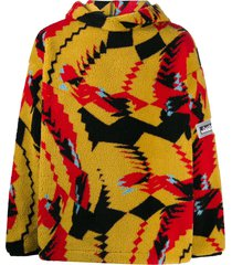 aries abstract print pull over - yellow