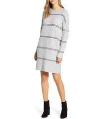 women's caslon crewneck long sleeve sweater dress