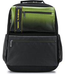 diesel neon-effect structured backpack - black