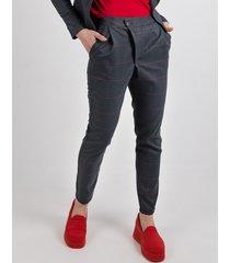 spodnie w pepitkę elvira