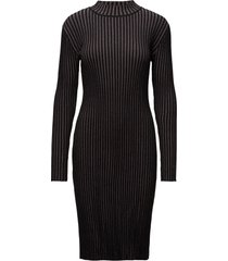 sutton cn sweater dr dresses knitted dresses svart calvin klein jeans