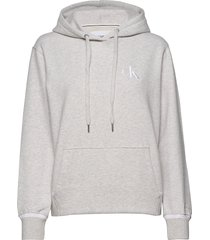 ck embroidery tipping hoodie hoodie vit calvin klein jeans