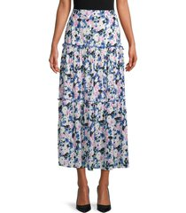 bcbgmaxazria women's floral tiered skirt - floral multi - size 12