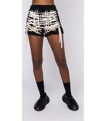 akira no rush lace up shorts