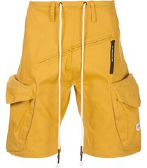 mostly heard rarely seen pull over cargo shorts - yellow