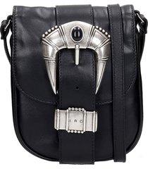 iro hamada shoulder bag in black leather